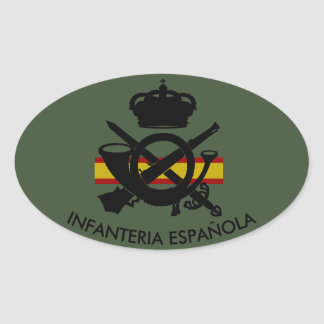 SPANISH INFANTRY OVAL STICKER
