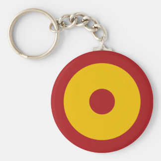 Spanish insignia basic round button key ring
