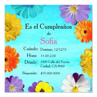 Spanish: Invitación de cumpleaños/ Birthday Invites