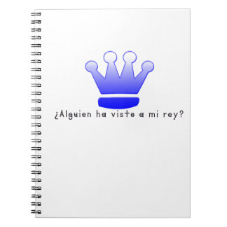 Spanish-King Spiral Notebook