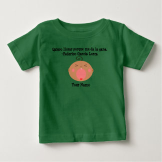 Spanish Language Cute Crying Baby T-Shirt