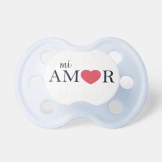 "Spanish Language ""My Love,"" ""Mi Amor"" Pacifier"