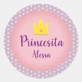 "Spanish ""Little Princess"" Sticker with Crown"