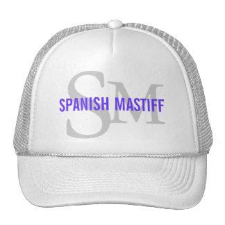 Spanish Mastiff Breed Monogram Design Mesh Hats