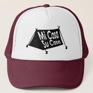 Spanish Mi Casa Su Casa Tent Stamp Trucker Hat