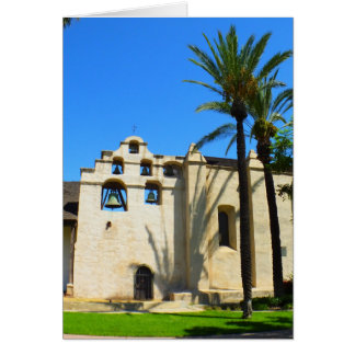 Spanish Mission greeting card - blank inside