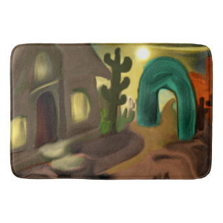 Spanish Mission Southwestern Abstract Art Bath Mat