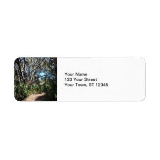 Spanish Moss Trail Return Address Label