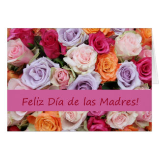 Spanish Mother's Day mixed roses Card