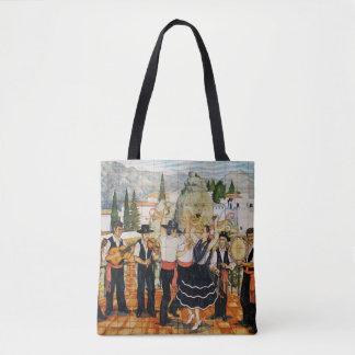 Spanish Musicians Mural Tote Bag