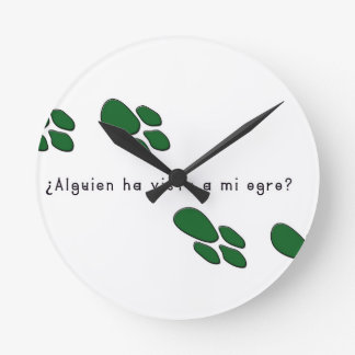 Spanish-Ogre Round Clock