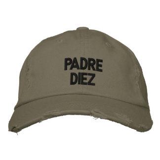 Spanish Padre Diez Black Embroidered Hat