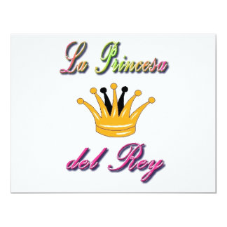 Spanish Princess of the King 11 Cm X 14 Cm Invitation Card