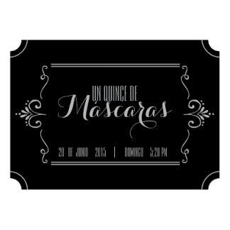 spanish quince MASQUERADE TICKET invitation