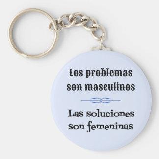 Spanish quote language learning key ring