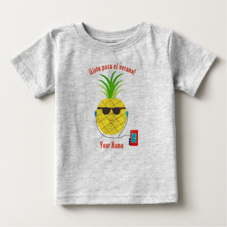 """Spanish """"Ready for Summer"""" T-Shirt with Pineapple"""