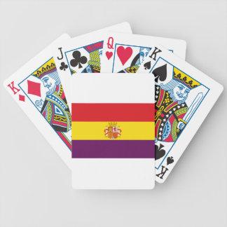 Spanish Republican Flag - Bandera República España Bicycle Playing Cards