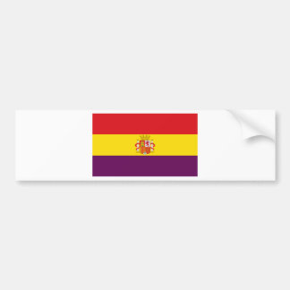 Spanish Republican Flag - Bandera República España Bumper Sticker