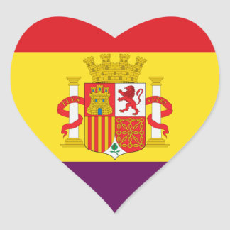 Spanish Republican Flag - Bandera República España Heart Sticker