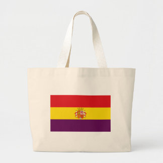 Spanish Republican Flag - Bandera República España Large Tote Bag