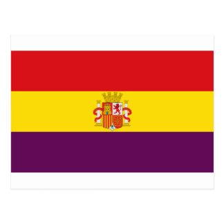 Spanish Republican Flag - Bandera República España Postcard