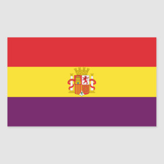 Spanish Republican Flag - Bandera República España Rectangular Sticker