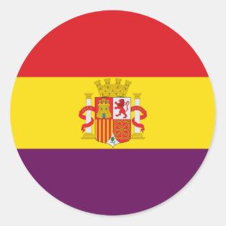 Spanish Republican Flag - Bandera República España Round Sticker