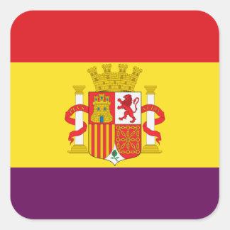Spanish Republican Flag - Bandera República España Square Sticker