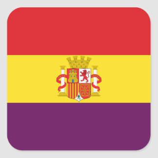 Spanish Republican Flag - Bandera República España Square Sticker