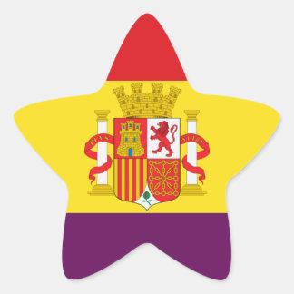 Spanish Republican Flag - Bandera República España Star Sticker