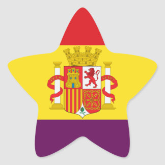 Spanish Republican Flag - Bandera República España Star Sticker