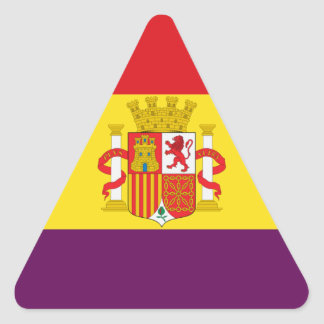 Spanish Republican Flag - Bandera República España Triangle Sticker