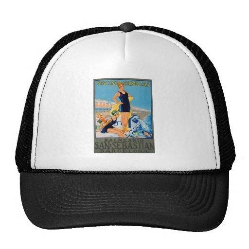 Spanish Resort Poster Hats