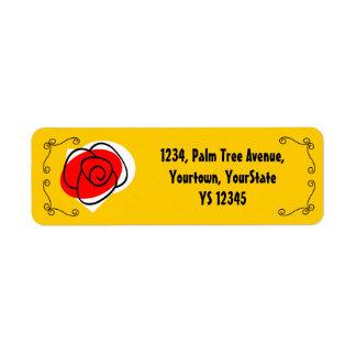 Spanish Rose Corners return address label
