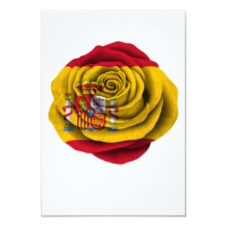 Spanish Rose Flag Personalized Announcement