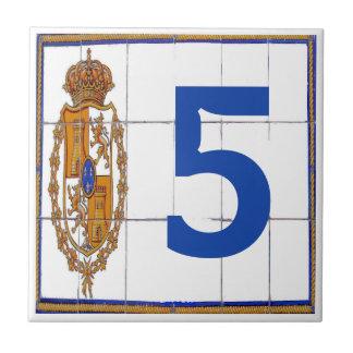 Spanish  Seal Letter &  House Number Tiles