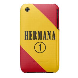 Spanish Sisters : Hermana Numero Uno iPhone 3 Cases