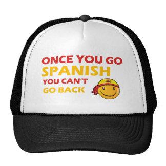Spanish smiley designs hats