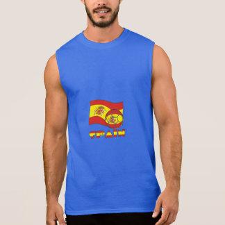 Spanish Soccer Ball and Flag Sleeveless Shirt