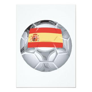 Spanish Soccer Ball 13 Cm X 18 Cm Invitation Card