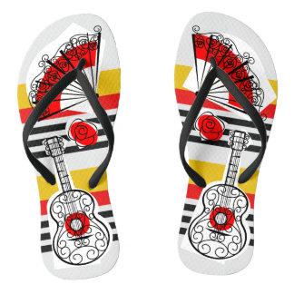 Spanish Souvenirs Classic Stripe flip flops