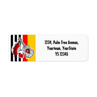Spanish Souvenirs Classic Stripe return address Return Address Label