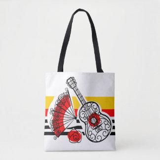 Spanish Souvenirs Classic Stripe yellow back Tote Bag