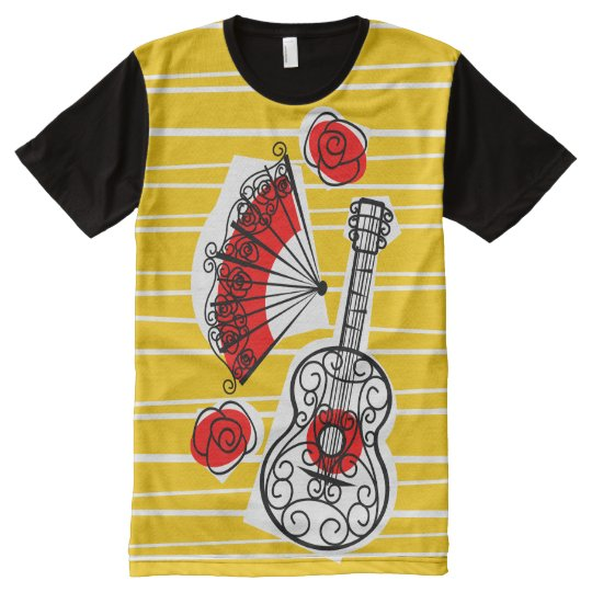 Spanish Souvenirs Group all over t-shirt