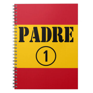 Spanish Speaking Fathers Dads Padre Numero Uno Spiral Notebook