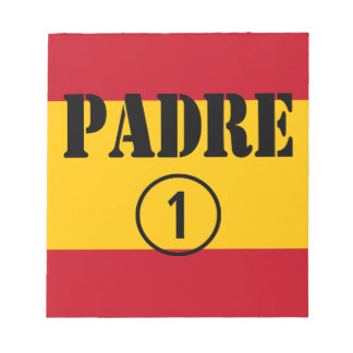 Spanish Speaking Fathers Dads Padre Numero Uno Memo Note Pads
