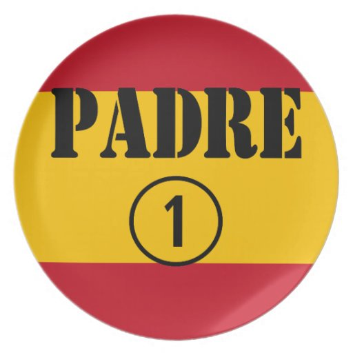 Spanish Speaking Fathers & Dads : Padre Numero Uno Dinner Plates