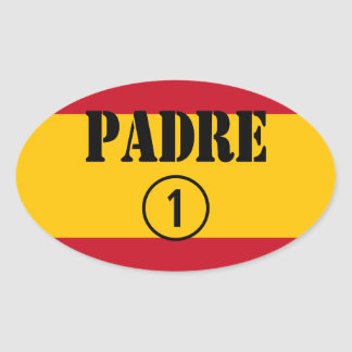 Spanish Speaking Fathers Dads Padre Numero Uno Oval Sticker