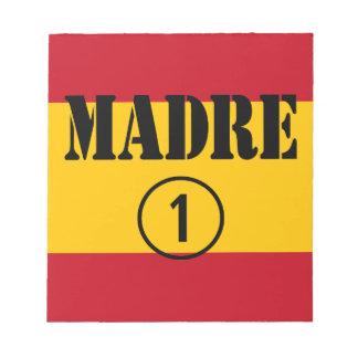 Spanish Speaking Mothers Moms Madre Numero Uno Memo Note Pad