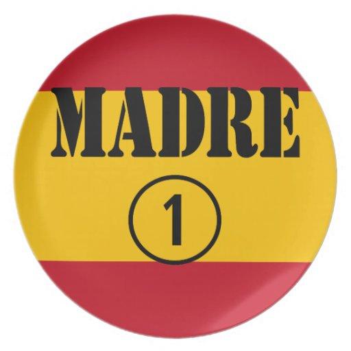 Spanish Speaking Mothers & Moms : Madre Numero Uno Dinner Plates